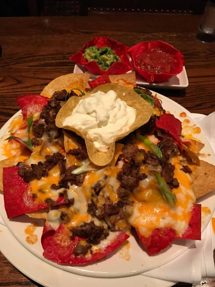 loaded nachos w/ beef $19