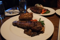 new york striplion w/ twice baked potato $34