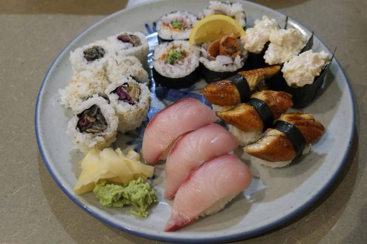 assorted nigiri & rolls
